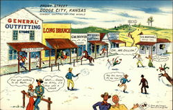 Greetings from Front Street, Dodge City, Kansas, Cowboy Capital of the World