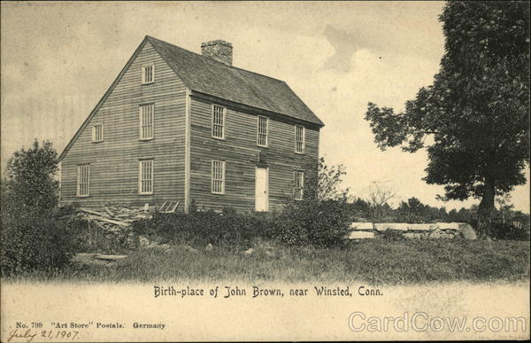 Birth-place of John Brown Winsted Connecticut