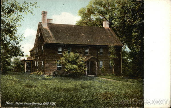 Coffin House, Built 1652 Newbury Massachusetts