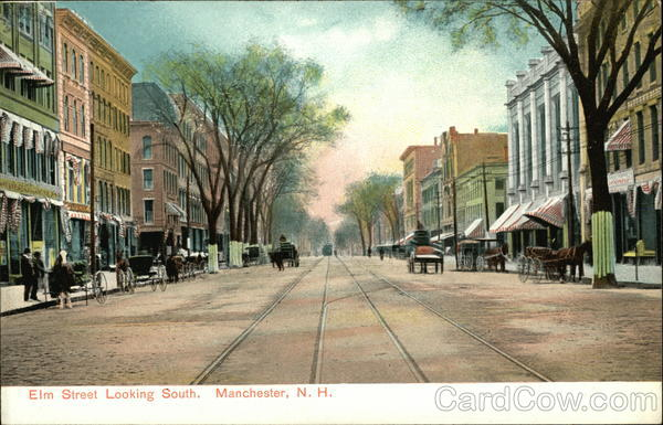 Elm Street Looking South Manchester New Hampshire