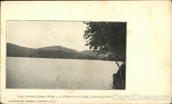 Lake Winnisquam, from J.H. Story's cottage, looking west Lakeport New Hampshire