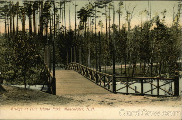 Bridge at Pine Island Park Manchester New Hampshire