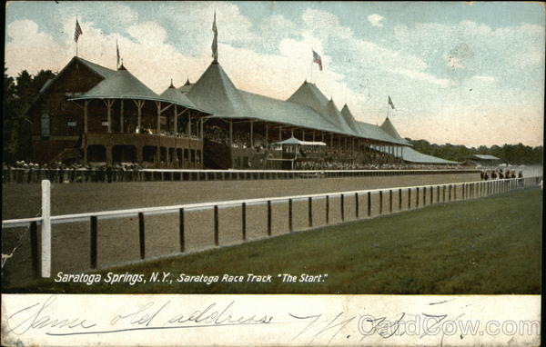 Saratoga Race Track The Start Saratoga Springs New York