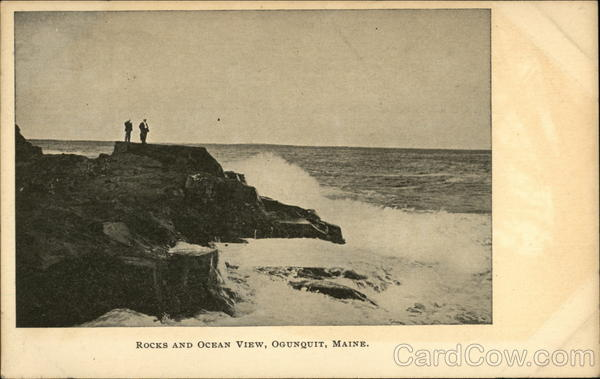 Rocks and Ocean View Ogunquit Maine