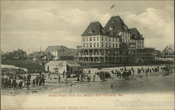 Hotel Fiske from the Beach Old Orchard Beach Maine