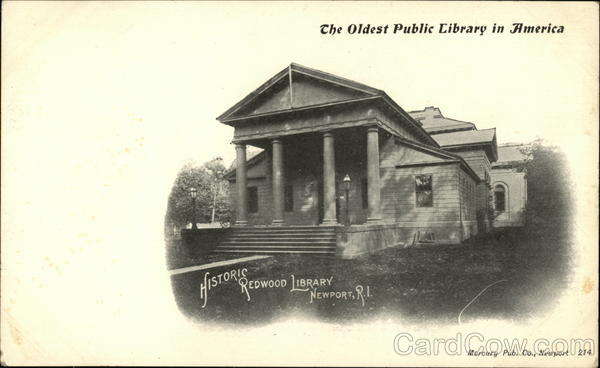 The Oldest Public Library in America, Historic Redwood Library Newport Rhode Island