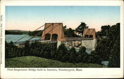 First Suspension Bridge built in America