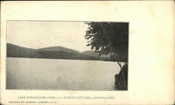 Lake Winnisquam, from J.H. Story's cottage, looking west