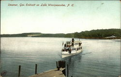 Steamer, Gov. Endicott on Lake Winnipesaukee