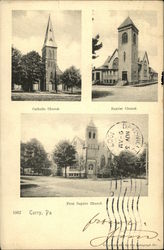 Catholic, Baptist and First Baptist Churches