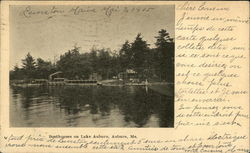 Boathouses on Lake Auburn