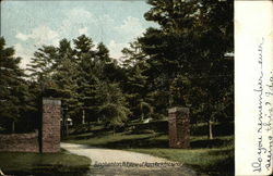 View of Ross Park Entrance Postcard