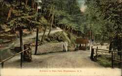 Entrance to Roes Park Postcard