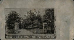 Entrance to Ross Park - Metal Postcard