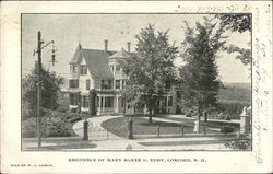 Residence of Mary Baker G. Eddy