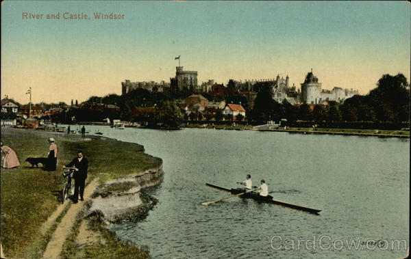 River and Castle Windsor England Berkshire