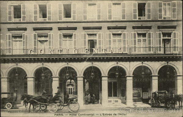 Hotel Continental Paris France