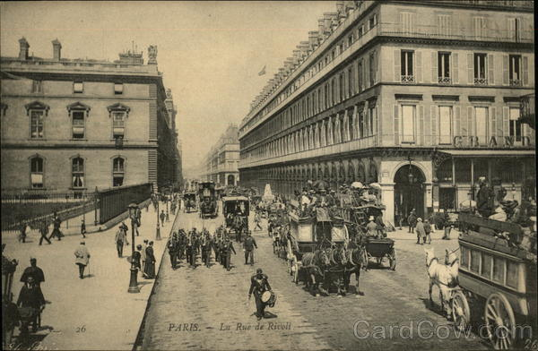 La Rue de Rivoli Paris France