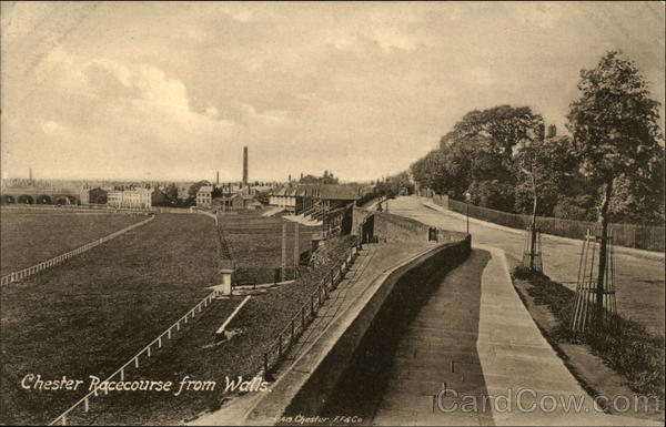 Chester Racecourse from Walls England Cheshire