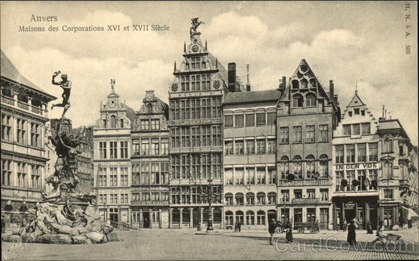 16th and 17th Century Corporate Houses Antwerp Belgium