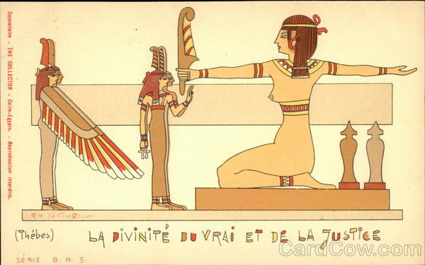 Maat. The Goddess of Truth and Justice Thebes Egypt