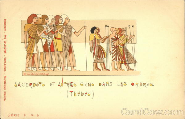Priests And Other people Of The Orders Thebes Egypt
