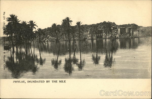 Phylae, Inundated By The Nile Egypt Africa