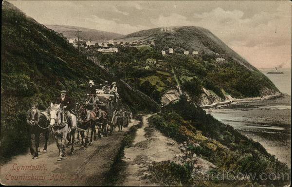 Carriage Acensing Countisbury Hill Lynmouth England