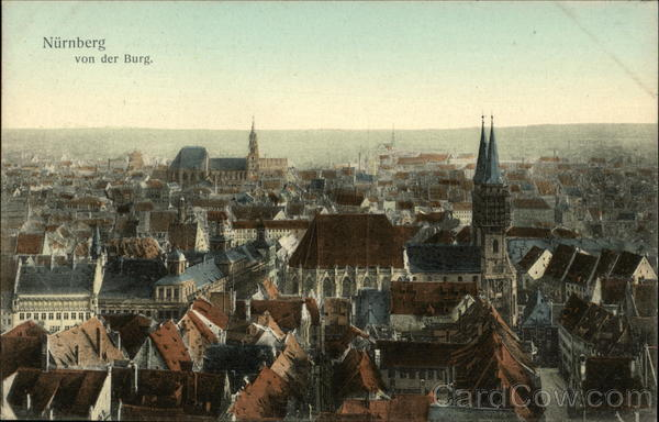 View over City Nuremberg Germany