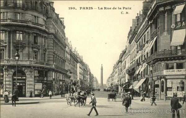 La Rue de la Paix Paris France