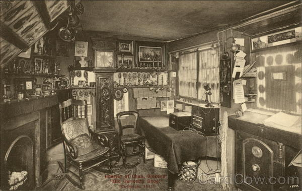 Interior of Charles Dickens' Old Curiosity Shop London England