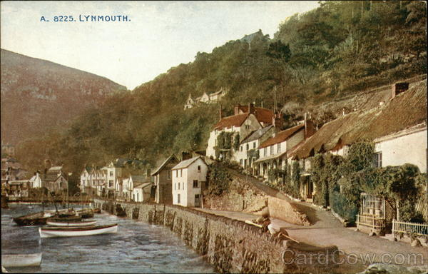 View of Town Lynmouth England