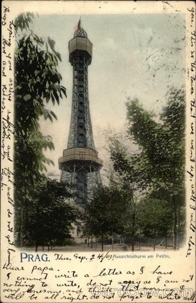 The Petrin Tower Prague Czechoslovakia (Czech Republic)