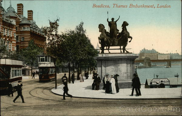 Boadicea, Thames Embankment London England