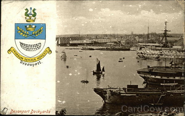 Devonport Dockyards Plymouth England