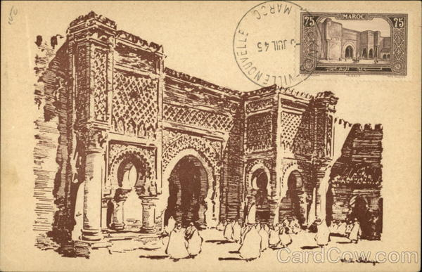 Bab Mansour Meknes Morocco Africa Maximum Cards
