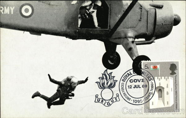 Special Air Service Sky Divers Military Maximum Cards
