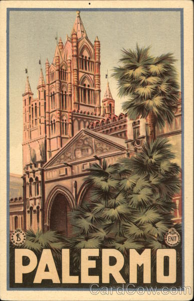 Palermo Cathedral Italy Poster Style