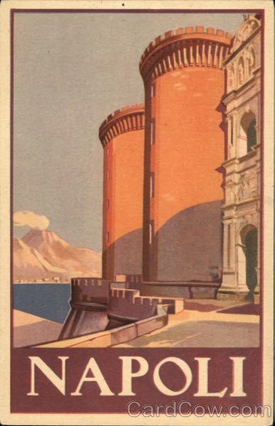 The Twin Towers of Naples Italy Poster Style