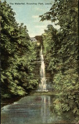 The Waterfall, Roundhay Park Postcard