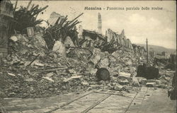 Panorama parziale delle rovine / Partial view of the ruins after the 1908 earthquake