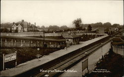 View from Tadworth Station Postcard