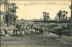 A Sultan And His Retinue In Marrakech