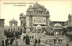 1908 Franco-British Exhibition, London. The Congress Hall