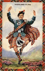 Highland Fling Demonstrated By Costumed Male Dancer
