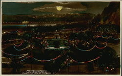 Princess Gardens Illuminations Postcard