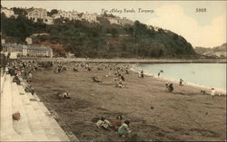 Tor Abbey Sands, With Beachgoers