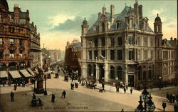 Post Office and New Street Postcard