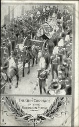 King Edward VII Funeral - The Gun Carriage entering Paddington Station