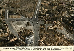 Bird's Eye View Of Trafalgar Square And Environs